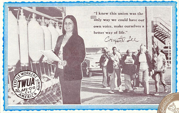 Postcard featuring Crystal Sutton. Courtesy of The Crystal Sutton Collection, The Learning Resources Center, Alamance Community College, Graham, North Carolina.