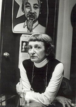 Anne Braden in the SCEF office where she edited The Southern Patriot, Louisville, Kentucky, October 1962. Reproduced by permission from the Wisconsin Historical Society.
