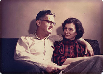 Social activists Carl and Anne Braden, taken about the time of their marriage, 1948. Reproduced by permission from the Wisconsin Historical Society.