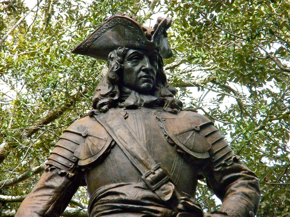 Detail of General Oglethorpe Statue, Savannah, Georgia, February 12, 2010. Photograph by Flickr user Jennifer Morrow. Creative Commons license CC BY 2.0.