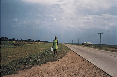 Untitled (Near Minter City and Glendora, Mississippi), 1970, printed 1999. Photograph and dye-transfer print by William Eggleston. From At War with the Obvious, Metropolitan Museum of Art, Accession #2012.286. © Eggleston Artistic Trust.