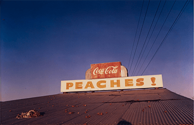 Untitled, 1971. Photograph and dye-transfer print by William Eggleston. From At War with the Obvious, Metropolitan Museum of Art, Accession #2012.300. © Eggleston Artistic Trust.