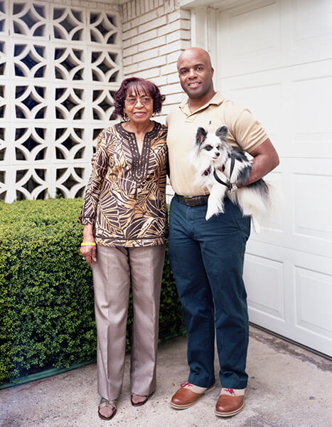 Constance Pruitt and her son John, April 6, 2012.