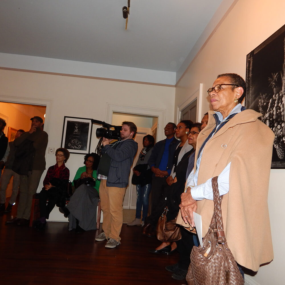 Mary Schmidt Campbell, President of Spelman College, watches students perform at the Hammonds House Museum, Atlanta, Georgia, November 22, 2015. Photograph by Jordan Streiff. Courtesy of LiFT Art Salon.