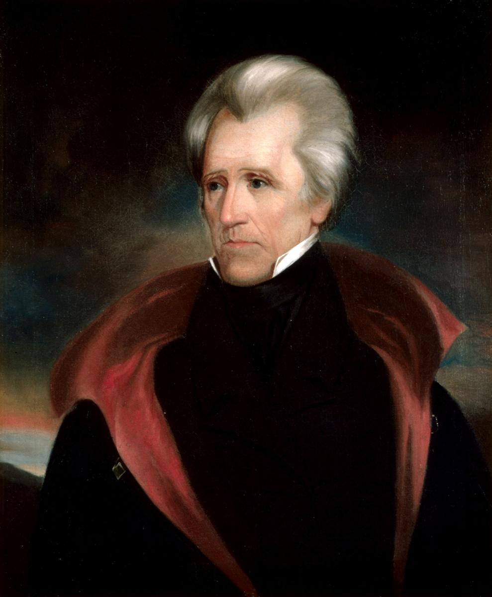 Andrew Jackson, ca. 1825–1837. Portrait by Ralph Eleaser Whiteside Earl. Courtesy of Wikimedia Commons. Image is in public domain.