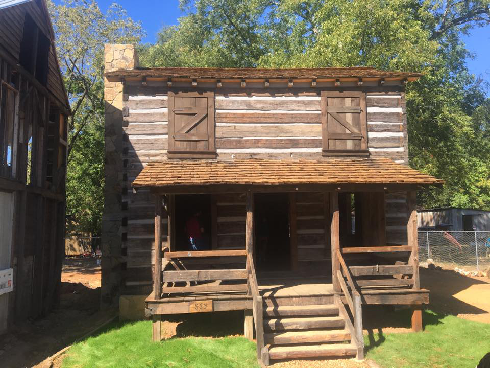 Vann Cherokee Cabin, Cave Spring, Georgia, October 2, 2016. Photo by unknown creator. Courtesy of Cave Spring Historical Society.