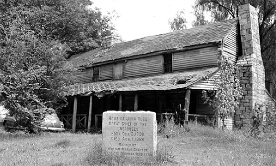 John Ross House, Rossville, Georgia, 1952. Courtesy of the National Park Service.
