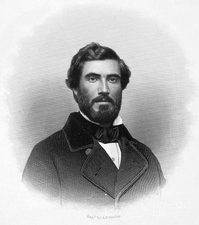Hinton Rowan Helper, 1860. Engraving by A. H. Ritchie. Originally published in Hinton Rowan Helper's The Impending Crisis of the South (Burdick Brothers, 1860). Courtesy of Wikimedia Commons. Image is in public domain.