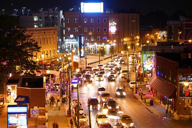 Amie Vanderford, Beale Street at night, Memphis, Tennessee, 2005.
