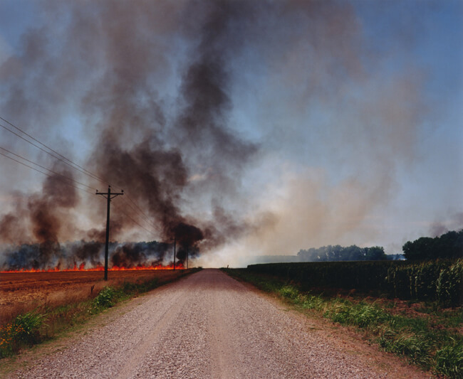 Bruce West, Burning fields, Hollandale, Mississippi, 2007.