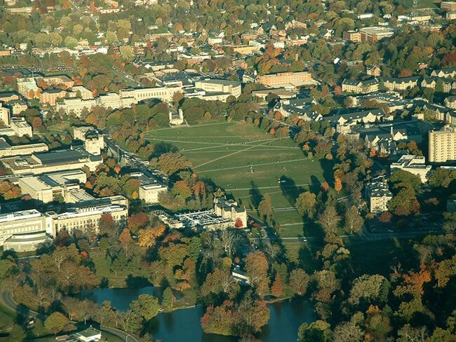 Emily Satterwhite, Virginia Tech campus from above, Blacksburg, Virginia, 2005.