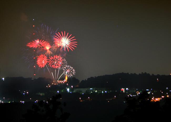 Glynnis Ritchie, Fireworks on Red Mountain, Birmingham, Alabama, 2009.