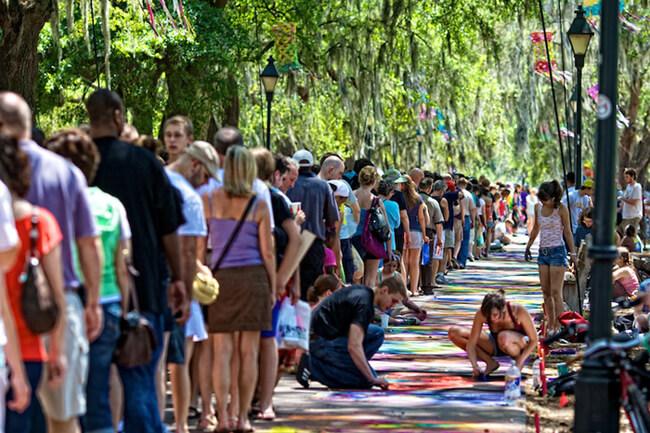 Susan Dennis, SCAD Sidewalk Arts Festival, Savannah, Georgia, 2009.