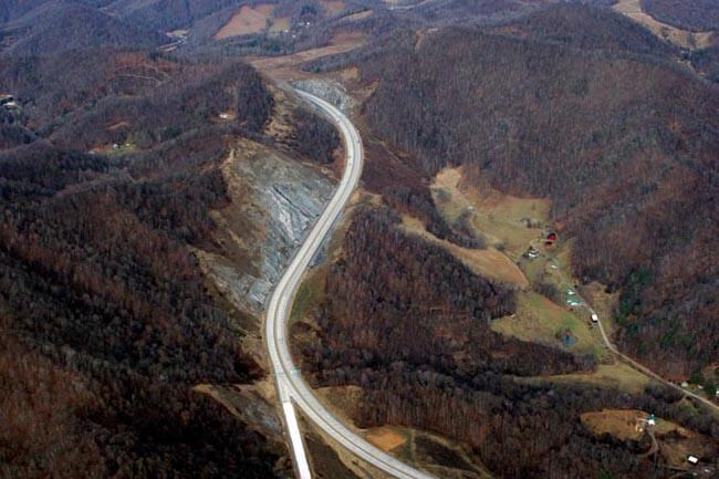Rob Amberg, I-26 looking west at Buckner Gap, Madison County, North Carolina, 2008.