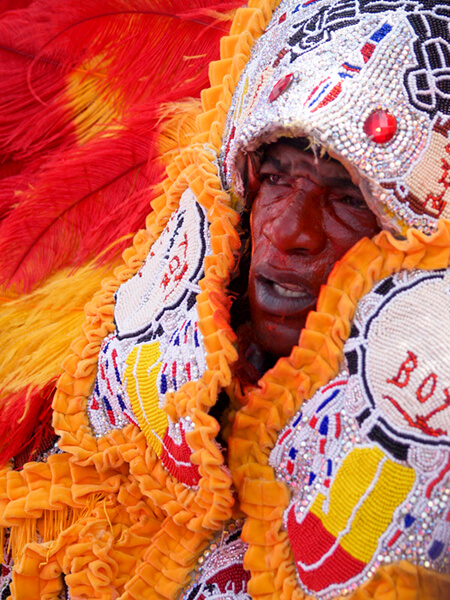 Jason Saul, Mardi Gras Indian, New Orleans, Louisiana, 2010.
