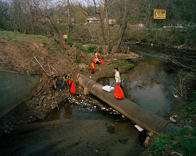 Jeff Rich, Clean-up on the Swannanoa River, Asheville, North Carolina, 2007.