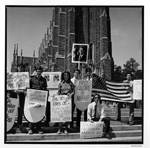 Central America Protest, Duke University, Durham, North Carolina, March 25, 1984.