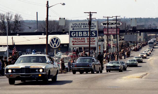 Hunter Desportes, Nixon's presidential motorcade, Columbia, South Carolina, 1973.