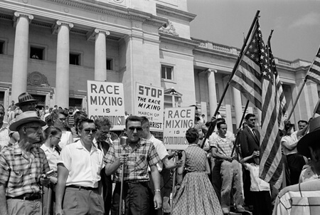 John T. Bledsoe, Rally at State Capitol, Little Rock, Arkansas, 1959.