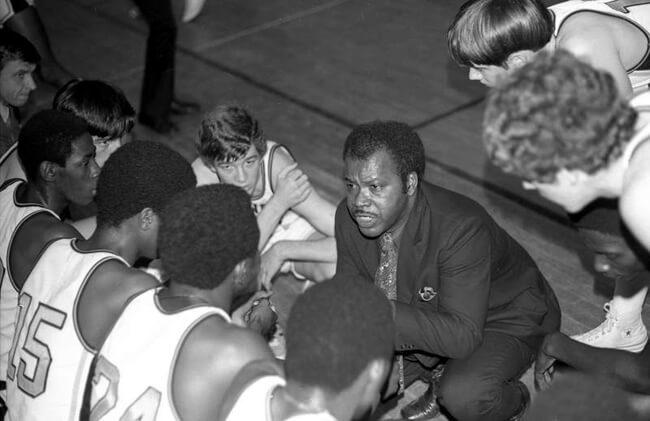 Hunter Desportes, Lower Richland High School's basketball team, Horrell Hill, South Carolina, 1971.
