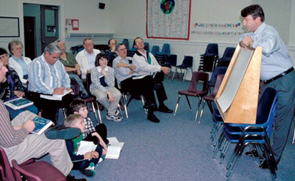 Laurie Kay Sommers, David Lee holds a singing school, Hoboken, Georgia, 1997.