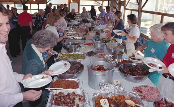 Laurie Kay Sommers, Dinner on the grounds at Mars Hill Primitive Baptist Church, Hoboken, Georgia, 2000.