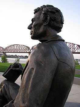 The Lincoln Memorial at Waterfront Park on the Ohio River, Louisville, Kentucky, July 27, 2009. Photograph by Jason Meredith. Courtesy of Jason Meredith.