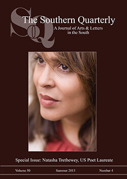 Cover of the Southern Quarterly special issue on Natasha Trethewey.