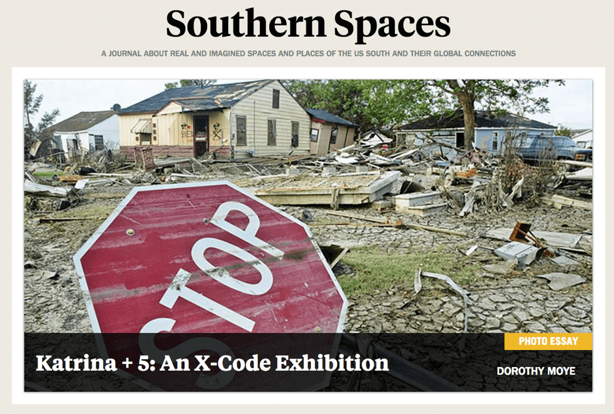 The new front page of Southern Spaces. Screenshot courtesy of Southern Spaces​.