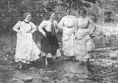 Wading in Creek at Ponce de Leon Park, circa 1890, from the Healey Collection, courtesy of the Atlanta-Fulton County Public Library