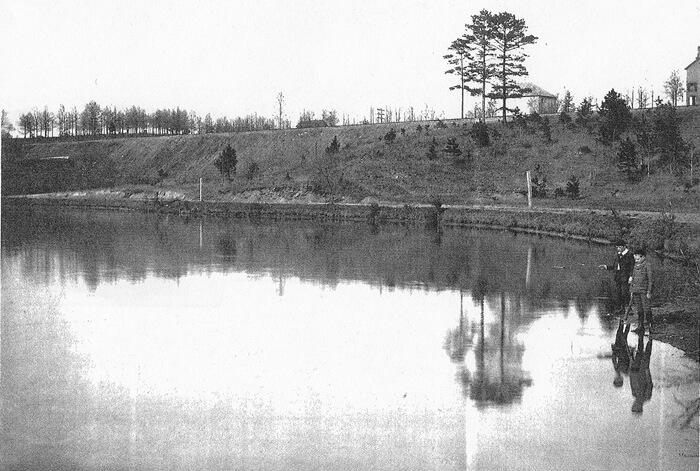 Ponce de Leon Lake circa 1895, from the Healey Collection, courtesy the Atlanta-Fulton County Public Library
