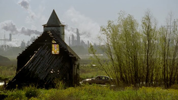 """Abandoned church from True Detective episode two, """"Seeing Things,"""" 2014. © HBO."""