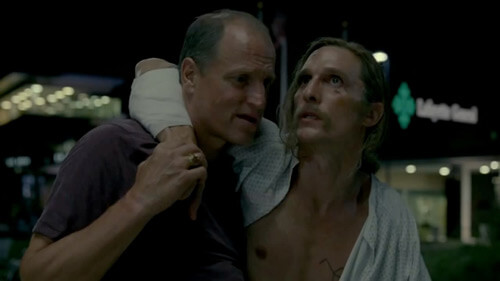 """Marty and Rust, capable of doing only one thing right, from True Detective's final episode, """"Form and Void,"""" 2014. © HBO."""
