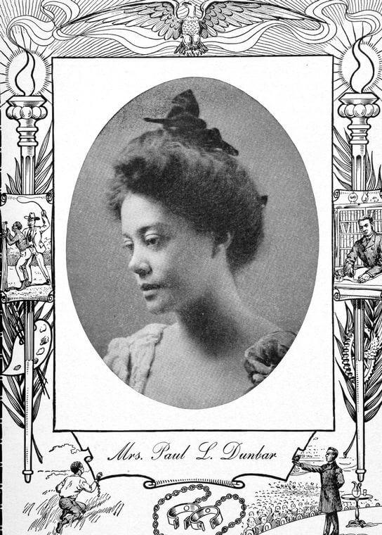 Alice Dunbar-Nelson, 1902. Print by Daniel Wallace Culp. Originally published in Twentieth Century Negro Literature (Premier Publishing, 1902). Courtesy of the New York Public Library Schomburg Center, digitalcollections.nypl.org/items/510d47da-768b-a3d9-e040-e00a18064a99.