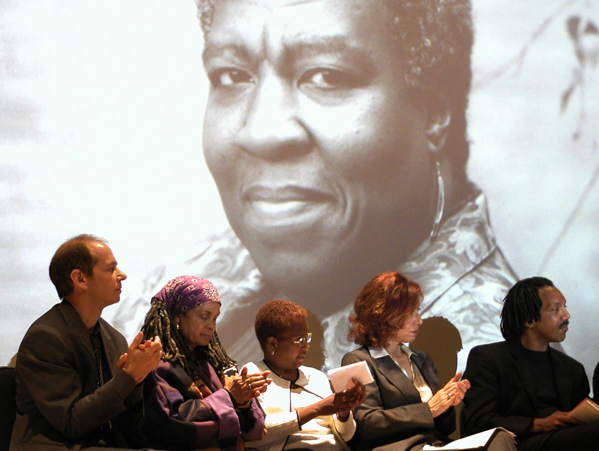 Tribute to Octavia Butler, New York, June 5, 2006. Photograph by Flickr user Houari B. Creative Commons license CC BY-SA 2.0.