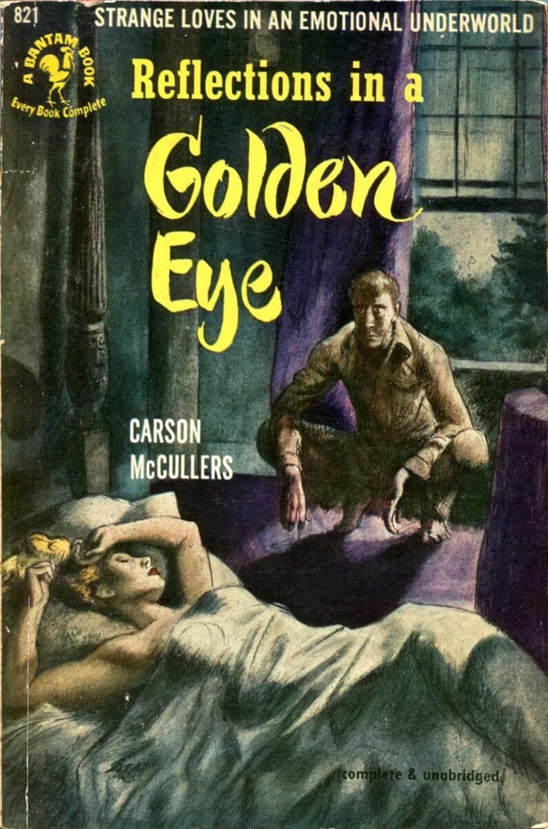 Cover of Carson McCullers's Reflections in a Golden Eye (Bantam, 1950 edition), March 23, 2013. Photograph by Flickr user Steve. Creative Commons license CC BY-NC-SA 2.0.