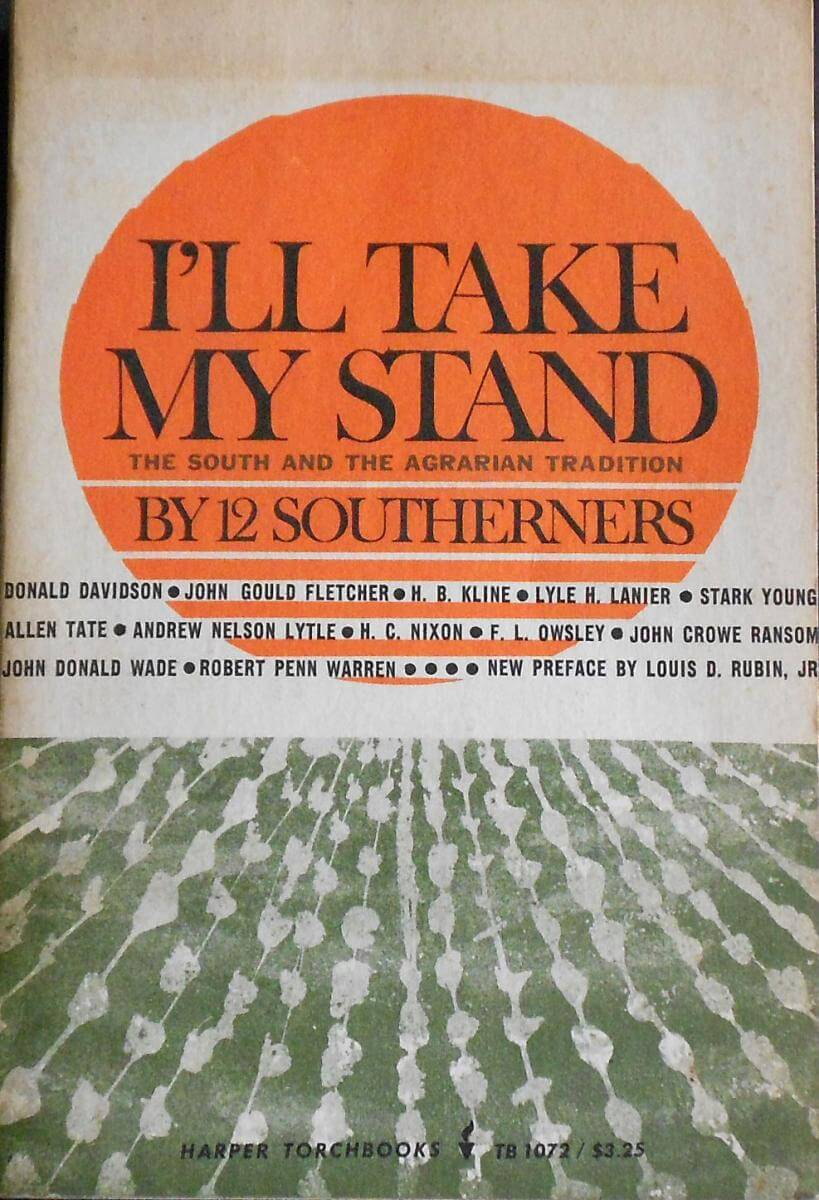 Cover of I'll Take My Stand (Harper & Brothers, 1930).