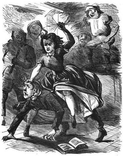 Bart Davis's Dance, ca. 1867. Illustration by Justin Howard. Originally published in George Washington Harris's Sut Lovingood (Dick & Fitzgerald, 1867). Courtesy of Wikimedia Commons. Image is in public domain.