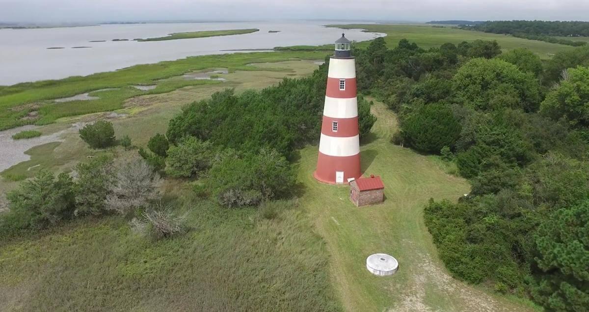 Lighthouse on Sapelo Island, Georgia, 2015. Screenshot courtesy of Southern Spaces.