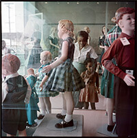 Ondria Tanner and her Grandmother Window-shopping, Mobile, Alabama, 1956. Photograph 37.007 by Gordon Parks. Courtesy of and copyright by The Gordon Parks Foundation.