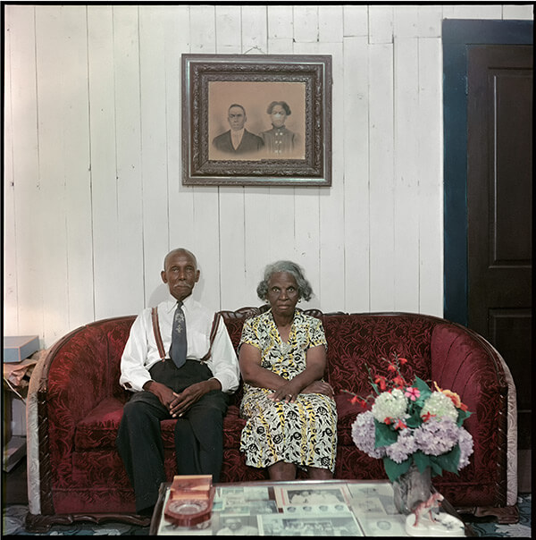 Mr. and Mrs. Albert Thornton, Mobile, Alabama, 1956. Photograph 37.003 by Gordon Parks. Courtesy of and copyright by The Gordon Parks Foundation.