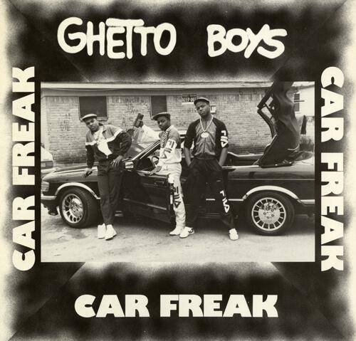 Album cover for Car Freak by Ghetto Boys. (Rap-A-Lot, 1987).