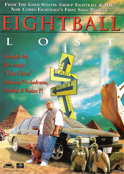 Promotional image for 8-Ball's triple CD Lost. (Suave House, 1998).