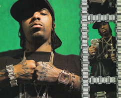 Lil Flip in an advertisement for Houston jeweler Johnny Dang, 2004.