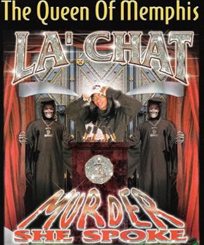 Promotional image for Murder She Spoke by La' Chat. (Koch Entertainment, 2001).