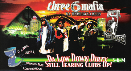 Promotional image for Da Unbreakables by Three 6 Mafia. (Sony, 2003).