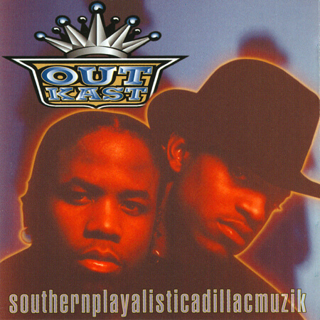 Album cover for Southernplayalisticadillacmuzik by OutKast. (LaFace Records, 1994).