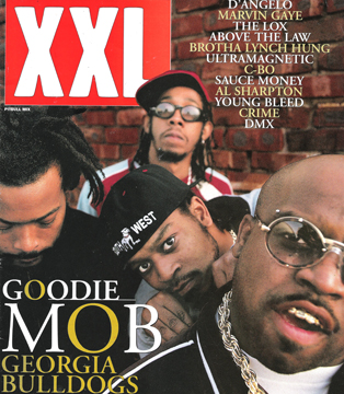 Goodie Mob on the cover of XXL Magazine, Vol. 1, Issue 3, 1998.