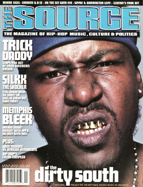 Trick Daddy on the cover of The Source, Issue #139, April 2001.