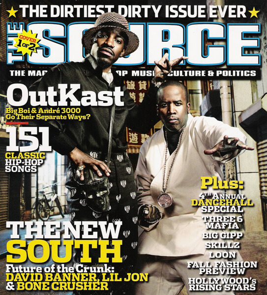 OutKast on the cover of The Source, Issue #169. September 2003.